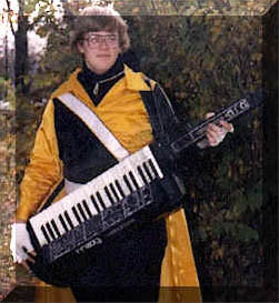 Neil with Synth in HS Marching Band